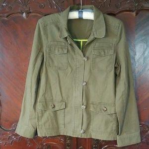 Express olive green sz M jacket coat cargo
